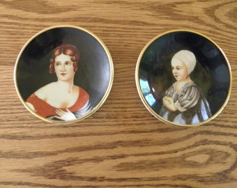 Pair of Occupied Japan Portrait Plates
