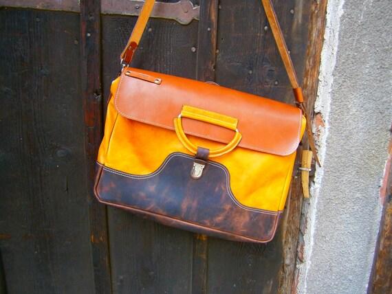 Biker's Messenger Bag, Laptop leather bag, Leather Briefcase, Casual office briefcase, Student's bag,Handmade Bag,laptop bag