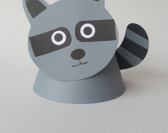 Raccoon Themed Party Hats.