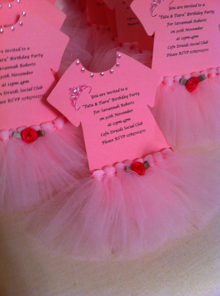 tutu invitations for tutu themed baby shower or by