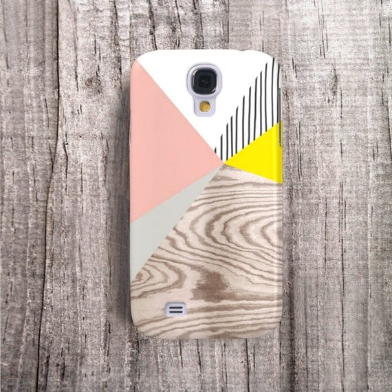 YELLOW Samsung Galaxy Case MATTE Samsung S4 Case Pink Wood Print Gloss Galaxy S4 Case Gifts for Her Wood Galaxy S4 Case Stripe Case