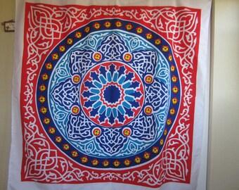 Table cloth, Arabic Oriental, printed, Egyptian cotton