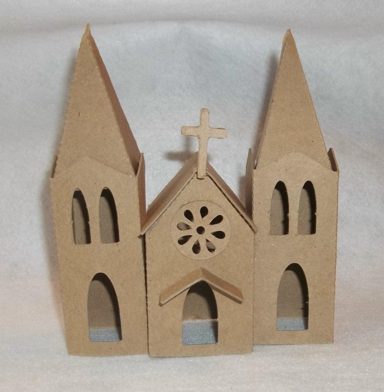 Cathedral Diy Putz Style Cardboard Church