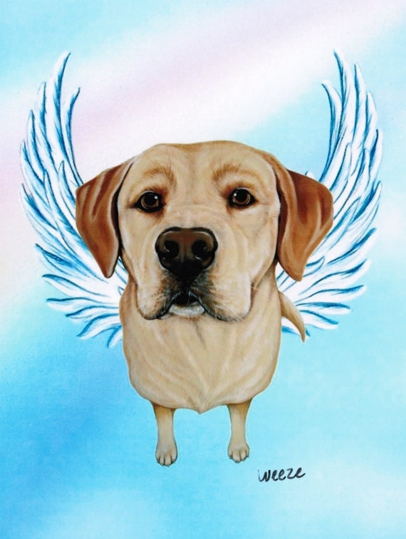 Yellow Lab Yellow Lab Angel Yellow Labrador By Artbyweeze