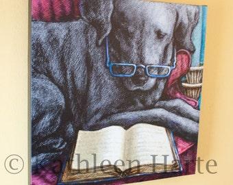 """16""""x16"""" Labrador Retriever Stretched Canvas"""