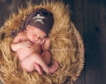 Newborn Knot Beanie Hat, Boy Photography Prop