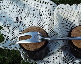 Big Vintage Swedish Silver Plated Serving Fork. Prima New Silver. Swedish vintage 1970s