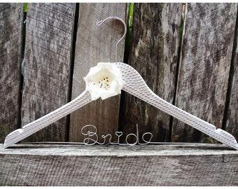 Crystal Encrusted Personalised Wedding Hanger Custom made
