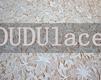 bridal lace fabric in white, wedding lace fabric, maple lace fabric