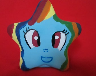 My little pony rainbow dash personalized name hand painted star bank pinkie pie rarity applejack derpy hooves fluttershy twilight sparkle