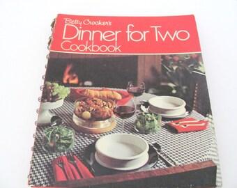 Vintage Cookbook, 1970's Betty Crocker Dinner For Two Cookbook, Vintage Recipes, Mid Century Kitchen