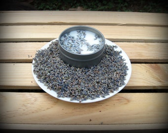 10 4oz Lavender Soy Candle Tins