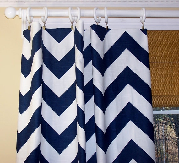 curtains 2 wide chevron zig zag curtains premier fabric navy