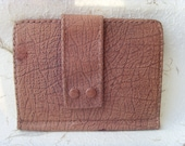 Latvian Vintage Women's Leather Clutch of Lilac Colour Made in USSR in 1980s
