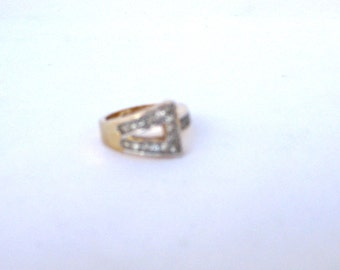 Vintage Direction One Gold Plated Ring