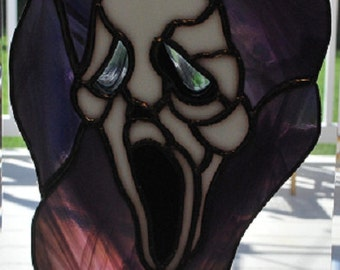 Stained glass Halloween Ghoul suncatcher, wall hanging