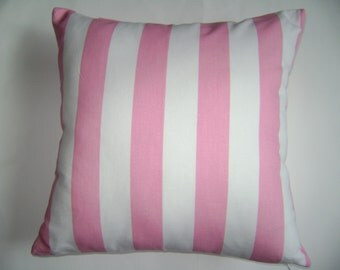 Baby Pink/White Pillow Cover,  Pink/White Striped Pillow Cover, Girls Pillow Cover, Nursery Pillow Cover
