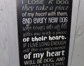 It Came To Me That Every Time I Lose A Dog, Dog Sign, Lose A Dog Sign, Gift For Dog Lover, Losing A Pet, Wooden Dog Sign