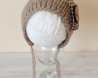 NEW!!! Newborn baby knit ha, knit hat, hat, newborn hat, photo prop, knit newborn hat