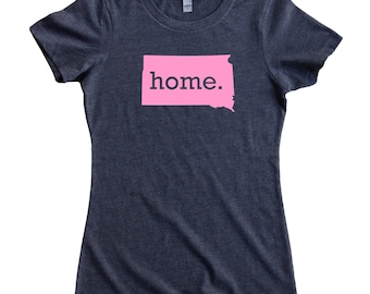 South Dakota Home State T-Shirt Women's Tee PINK EDITION - Sizes S-XXL