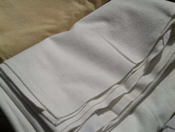 Victorian Plain White Flat Sheet French Metis Linen 2 pers Bedding Sewing Project #Sophieladydeparis