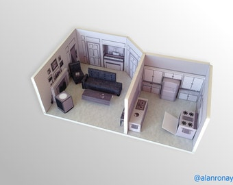 I Love Lucy Apartment Scale Model --  623 E. 68th Street, Apartment 3D