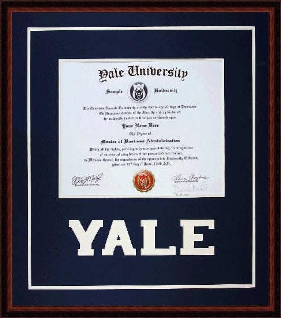Yale Diploma Frame / dyrevelferd.info