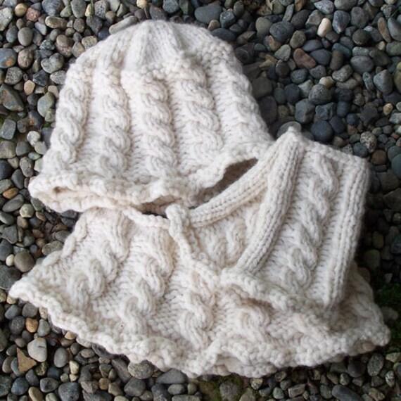 Knit Cowl Pattern Super Bulky Yarn : Pattern WWD139 Super Bulky Hat Cowl & Mitts