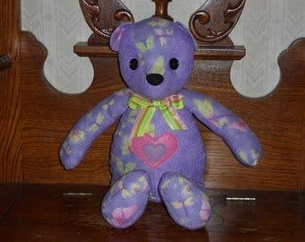 Handcrafted Purple and Pink Bear