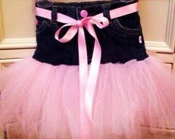Custom Denim Tutu Skirt