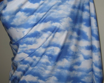 Cloud Print Spandex Fabric