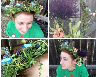 Thistle and Scraps Fairy/Dryad Crown/Headdress/Autumn/Wedding/Costume/Rennaissance
