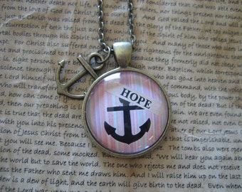 Hope Necklace Hope Inspirational Necklace Hope is an Anchor