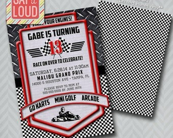 Custom Racing or Go Cart Invitation