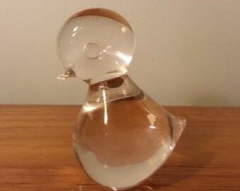 1960s Scandinavian Blown Glass Duckling