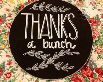 Thank You Chalkboard Prop Sign.