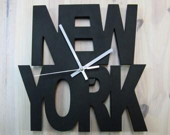 NEW YORK clock, Unique wall clok,Home Clock,Home Decor,decor and housewares,Wall Clock