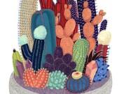 Crystal Cactus Print