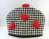 Tea Cozy 3D Red Heart Black and White Check Item 201405