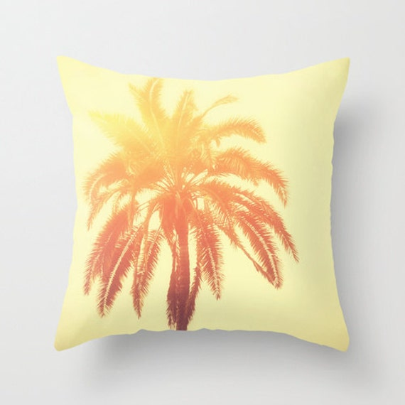 Pillow Cover Sunshine Yellow Boho Beach Surf Decor by NatureCity