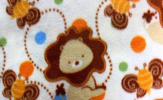 Baby Fleece Fabric by The Yard 2 Yards of Baby Lion Fleece