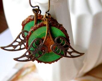 Leaf Earrings, Spring Jewelry, Nature Jewelry, Woodland Earrings