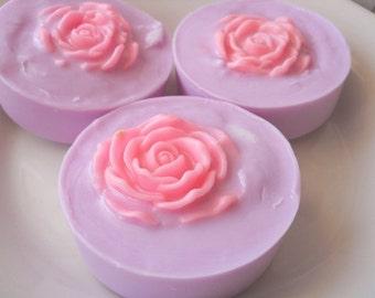 Lavender Rose Shaving Soap, Detoxifying Soap, Womens Shaving Soap, Vegan Shaving Soap, Glycerin Soap, Homemade Soap