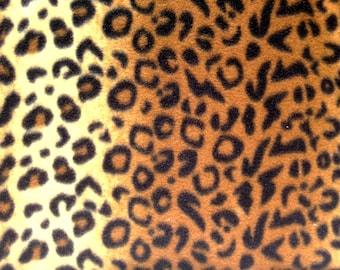 Leopard Fleece Fabric -  By the Yard