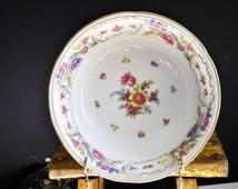Dresden Bowl, vegetable bowl, antique, porcelain bowl china, Beautiful floral pattern, great for serving vegetables