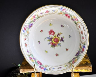 Dresden Bowl, 50 pc. in our shop, vegetable bowl, antique, porcelain bowl china, Beautiful floral pattern, great for serving vegetables