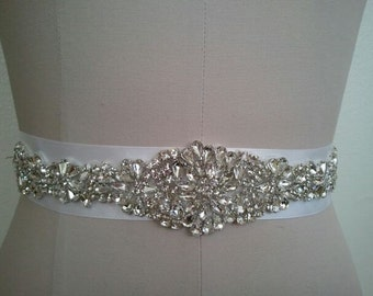 Wedding Belt, Bridal Belt, Sash Belt, Crystal Rhinestone  - Style B200087