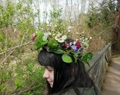 Pansy Crown with Fairy Lights