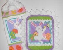 Easter Kitchen Towel, Bunny Hanging Towel, Easter Pot Holder