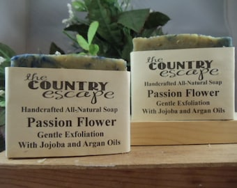 Passion Flower Bath Soap - Great Lather - Handcrafted - Organic - Vegan - Natural Soap - Paraben Free
